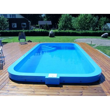 Swimming pool Polypropylene 6 x 4 turnkey  buy in online store PlastDesign Ukraine