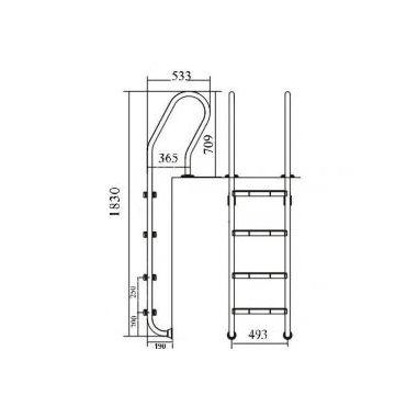 Staircase NSF415-S -MIXTA 4 CT EMAUX (China, Australia)  buy in online store PlastDesign Ukraine