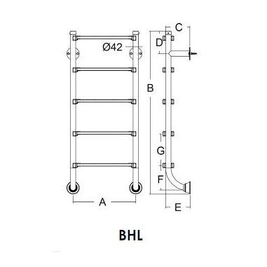 Сходи BHL нижня частина 5 ст EMAUX купити в інтернет-магазині ПластДізайн Україна