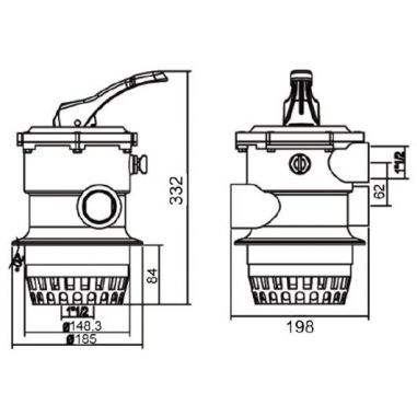 Кран шестіходовой 2 MPV02 EMAUX (АВСТРАЛІЯ-КИТАЙ) купити в інтернет-магазині ПластДізайн Україна