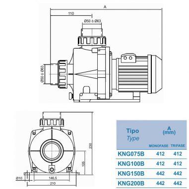 Pump KRIPSOL KNG200 M.B (Spain)  buy in online store PlastDesign Ukraine