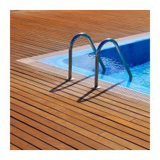Swimming pool ladders and grates